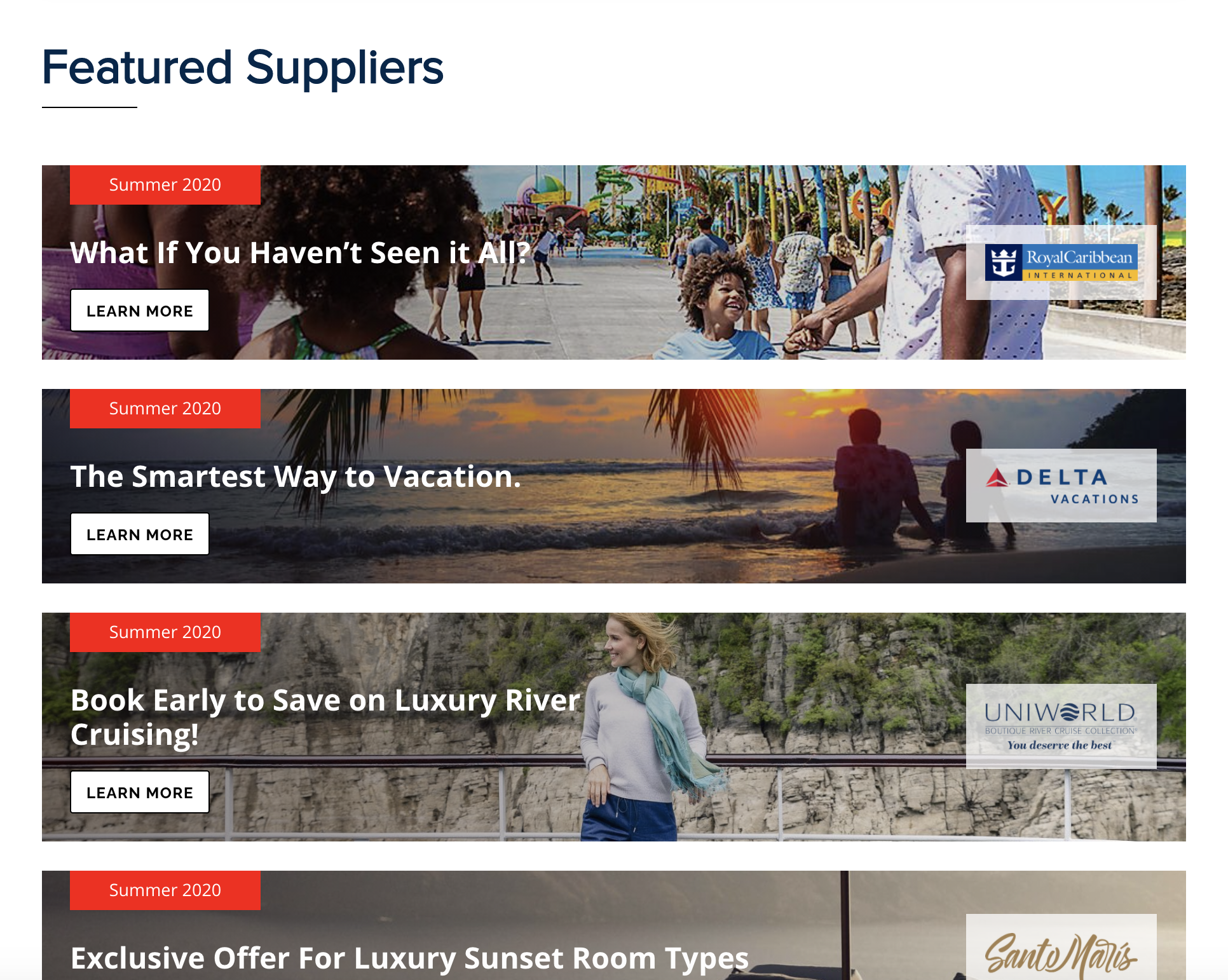 featured suppliers example